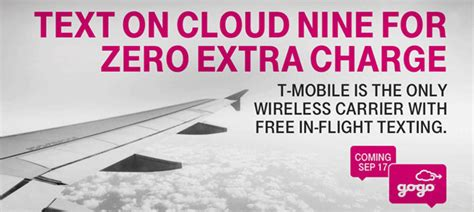 tmobile gogo free in flight texting and voicemail from gogo and t mobile passenger self service