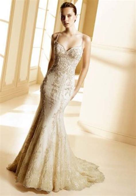 Gold Wedding Dresses by Gorgeous Photos Of Wedding Dresses With Gold Lace Sang