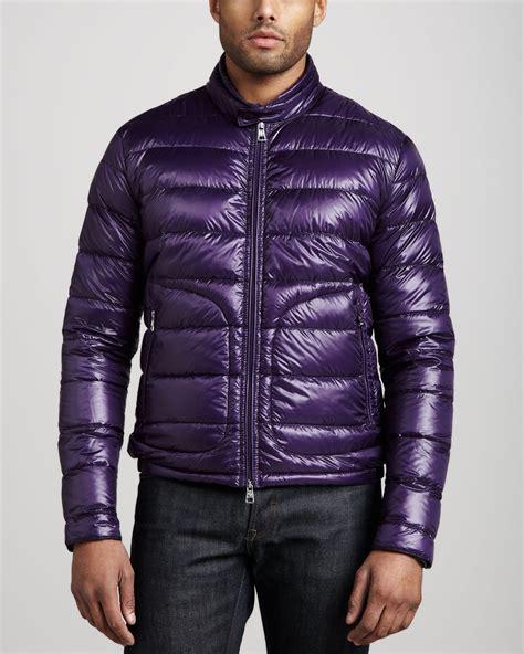 Dpurple Coat Blazer Ungu Korea Jaket lyst moncler acorus puffer moto jacket purple in purple
