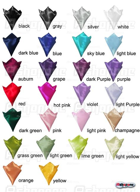 hanky colors new mens wedding solid color plain silk hankerchief hanky