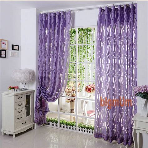 violet sheer curtains sheer curtains luxury stripe tulle volie organza