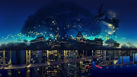 Wallpaper Anime City | anime city night www pixshark com images galleries