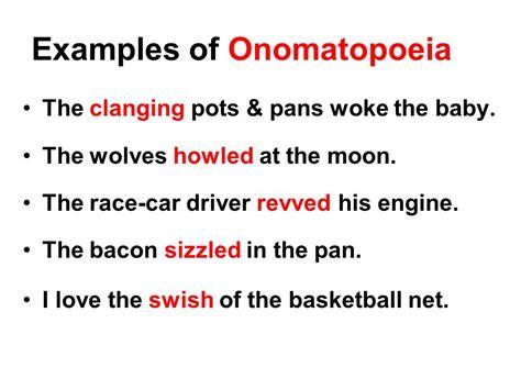exle of onomatopoeia by ereadingworksheets ppt