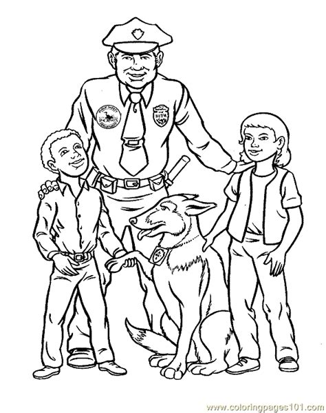 coloring pages police coloring page 08 peoples gt police