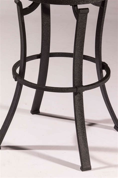 Kelford Backless Swivel Stool by Hillsdale Kelford Swivel Backless Bar Stool Black