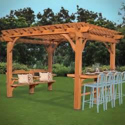 Backyard Discovery Pergola Oasis 12 Ft W X 10 Ft D Pergola Wayfair