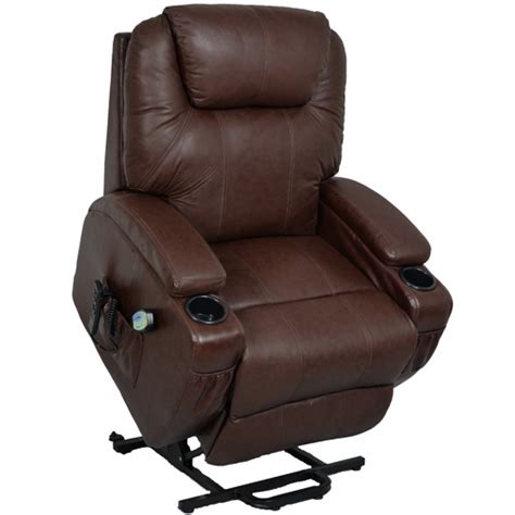 fauteuil massant relaxant fauteuil relax massant chauffant releveur cuir kalinka 2 moteurs