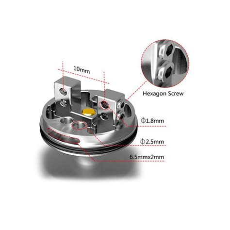 Rda Atomizer 22mm authentic hcigar maze rda 22mm silver rebuildable