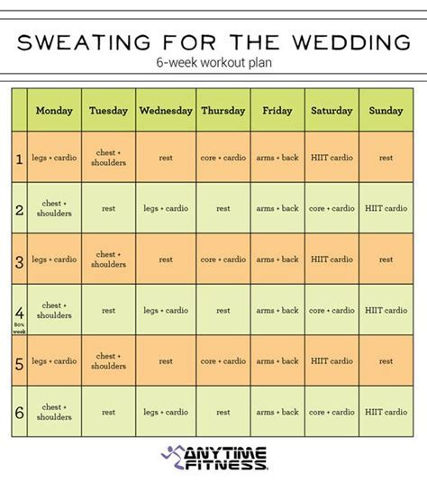 6 Week Pre Wedding Workout Plan   Get in shape for your