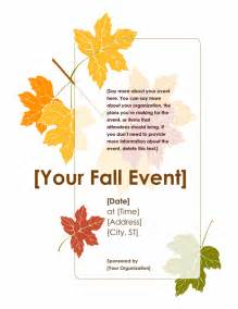 fall templates fall event flyer with leaves office templates