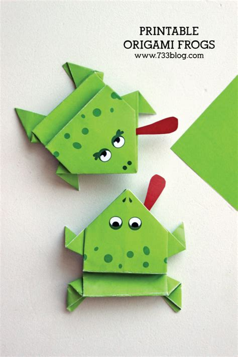 Origami Jumping Frog Pdf - printable origami frogs inspiration made simple