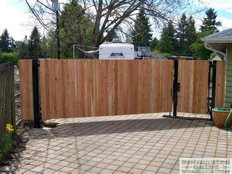 wood swing gate wood swing gate driveway automated custom wood