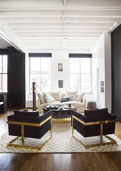 Black White And Gold Living Room - 15 ways to slay the black and white d 233 cor trend stylecaster