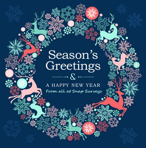 seasons greetings and new year 2018 e cards happy greetings from snap surveys