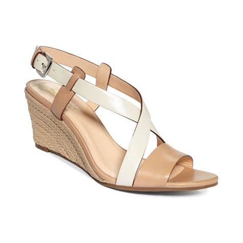 cole haan sandals womens cole haan womens wedge sandals in beige sand