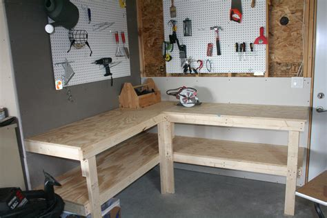 diy garage bench pdf l shaped workbench plans plans free