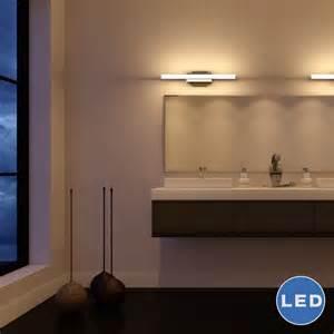 Low Profile Vanity Light Vonnlighting Procyon 23 Quot Led Low Profile Bathroom Lighting Fixture In Satin Nickel Reviews