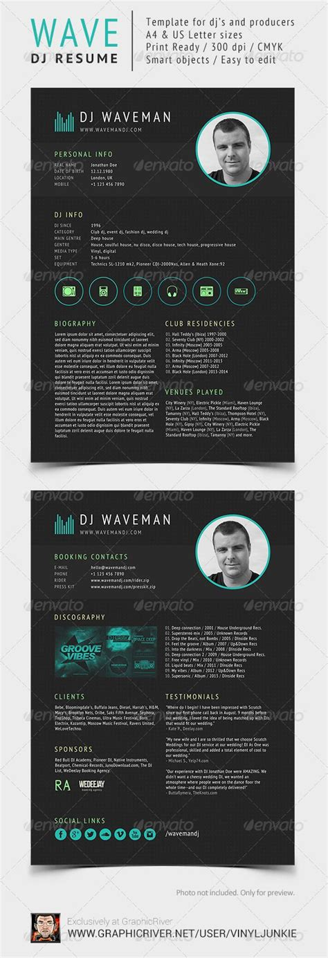 Wave Dj Resume Press Kit Dj And Press Kits Dj Classifieds Template