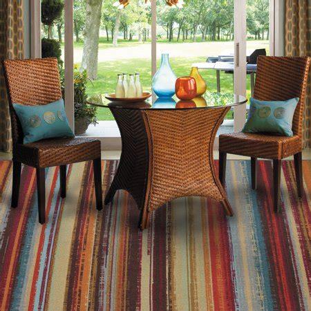 walmart indoor outdoor rugs mohawk home avenue stripe indoor outdoor rug multi