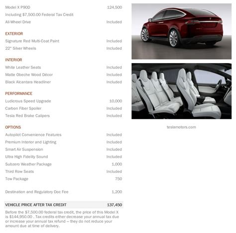 Tesla S Specifications Tesla Model X Revealed Via Configurator 560kw