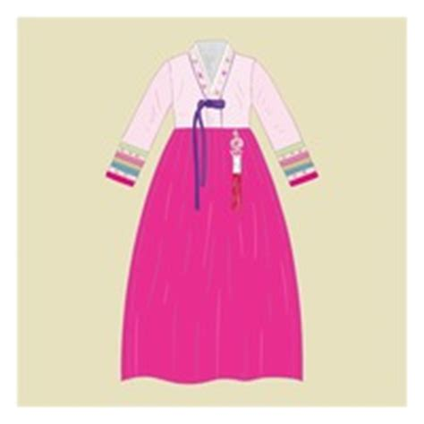Set Premium Hanbok Asli Korea 4 korean hanbok icons vector image 1623796 stockunlimited