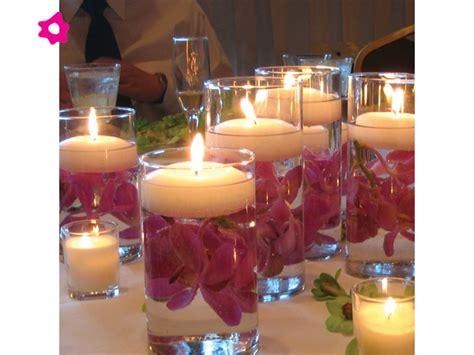 adornos de mesa para bodas con velas centros de mesa para boda con velas flotantes 171 ideas