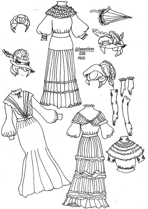 coloring pages dolls around world new paper dolls fashions through the past eras