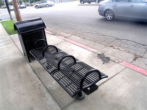 homeless bench disciplinary architecture or deterrence by design