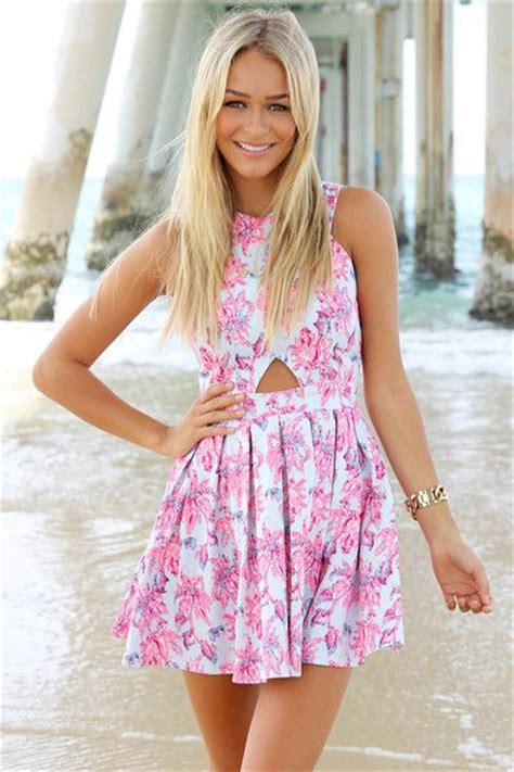 Dress Wanita Azzurra 348 48 chic quot floral heritage quot cutout skater dress 2 colors available floral collection and products