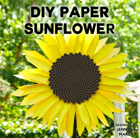 How To Make Sunflowers Out Of Paper - paper sunflower tutorial this will mesmerize you