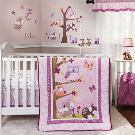 Bedroom Comforters And Accessories Bedtime Originals Lavender Woods Baby Bedding And
