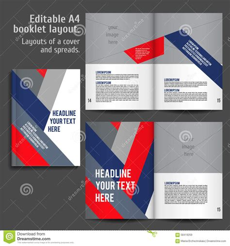 a4 book layout design a4 book layout design template stock vector image 58419259