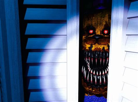 Nightmare In Closet by Nightmare Fredbear Hiding In The Closet Of The Child S