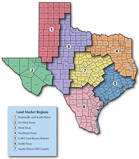 texas land map real estate center rural land