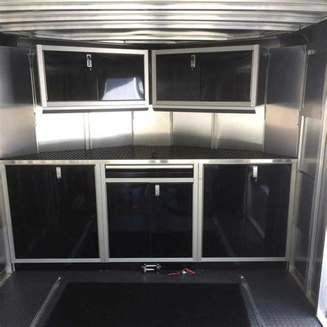 aluminum cabinets enclosed trailer trailer cabinets redo your vintage trailer cabinets with