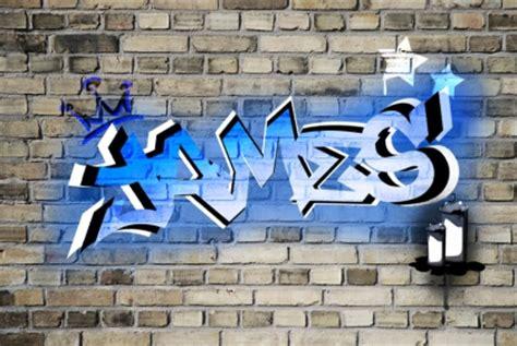 boys bedroom graffiti wallpaper    brick wall