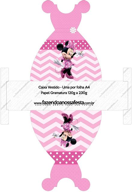 Dress Minnie Pretty pretty minnie in pink free printable boxes oh my