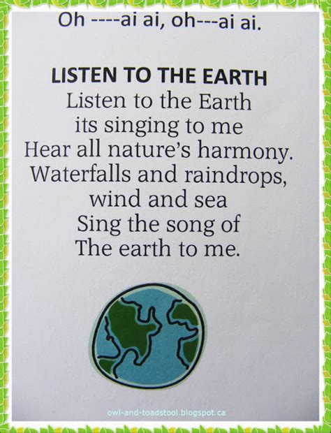 earth song cookbook earth s simple guide to health through food books owl toadstool earthday cfire song book