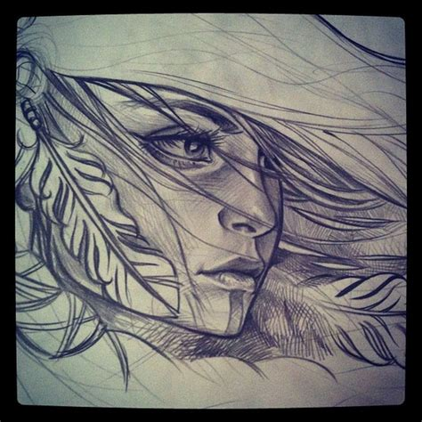 minimalist tattoo artists canada native indian woman drawing group of wind in my hair we