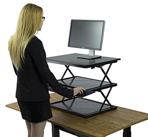 Sit To Stand Desk Converter Changedesk Adjustable Standing Desk Conversion Move Between Sitting Standing In Seconds