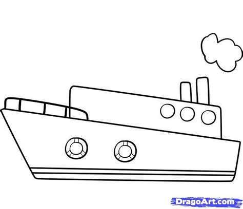 how to draw the mayflower boat simple boat drawing draw a ship step by step boats