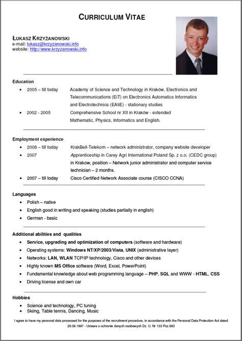 Cv V Resume