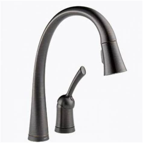 Delta Pilar Kitchen Faucet Delta Pilar Single Handle Pull Kitchen Faucet With Touch20 Venetian Bronze