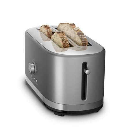 Silver Toaster Kitchenaid Kmt4116cu 4 Slice Slot Toaster With High