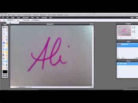 pixlr remove background how to remove background of handwritten signature using