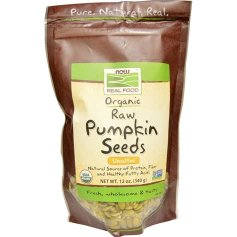 now foods organic pumpkin seeds unsalted 12 oz