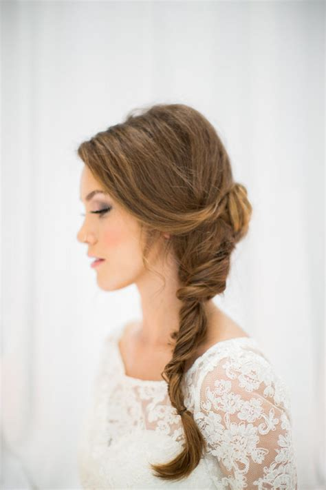 wedding hairstyles with side braid wedding hair inspiration 32 fresh feminine bridal