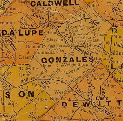 gonzales texas map gonzales county texas
