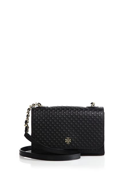 Marion Quilted Crossbody burch marion quilted leather crossbody bag in black
