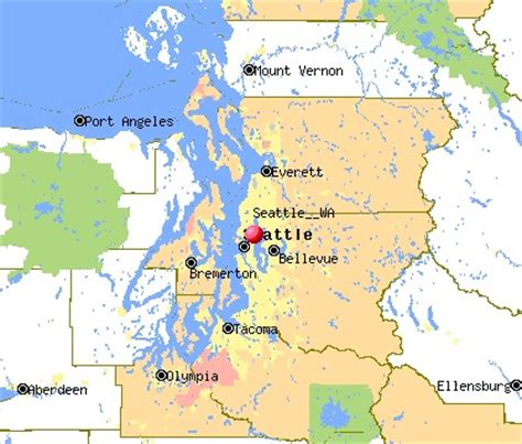 seattle map washington state pin usa map image search results on